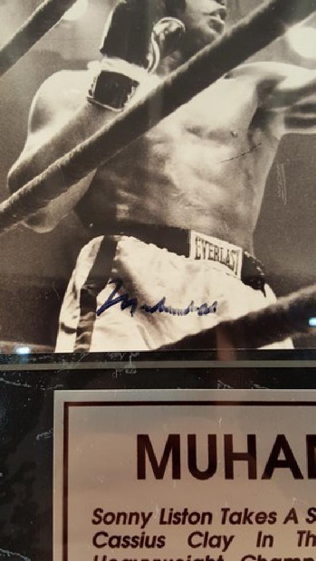 Muhammad Ali Signed Photo Plaque of Sonny Liston & - 2