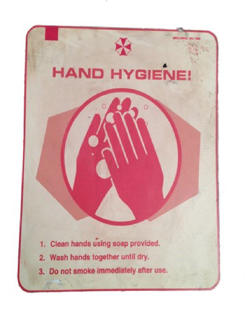 "Resident Evil: The Final Chapter ""Hand Hygiene"" Sign"