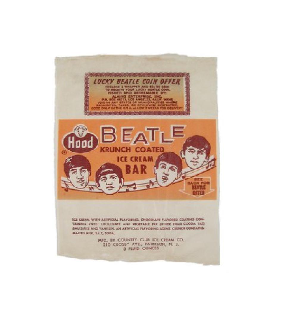 Beatles Original 1965 Hood Dairy Ice Cream Bar Wrapper