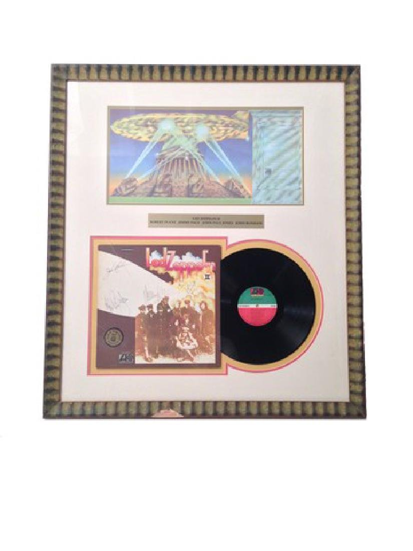 Led Zeppelin II Signed & Framed Album Cover