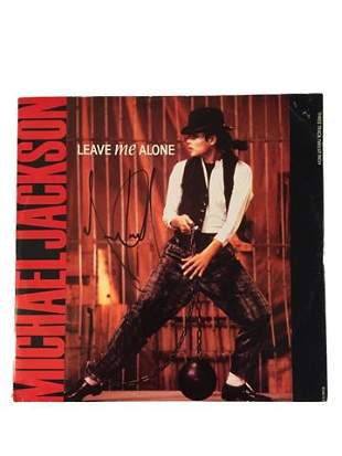 Michael Jackson Signed Leave Me Alone LP Album Cover