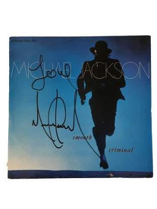 Michael Jackson Smooth Criminal Signed LP Cover