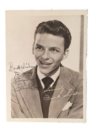 Frank Sinatra Publicity Signed Photograph