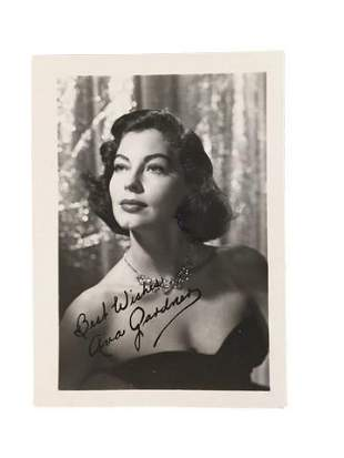 Ava Gardner Publicity Photo Signed