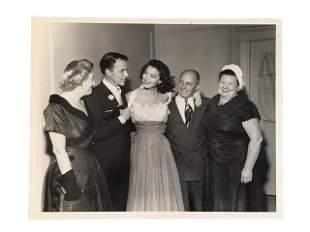 Frank Sinatra & Ava Gardner Rare Wedding Photograph