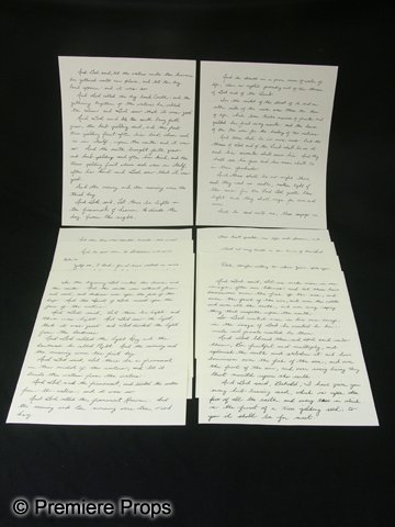 110: The Book of Eli Handwritten Bible Pages