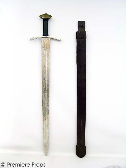 699: ROBIN HOOD: PRINCE OF THIEVES - Metal Sword and Sh