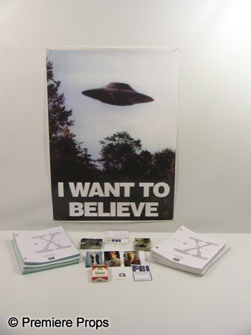 714: THE X FILES - Prop Poster, Prop Cigarette Box and
