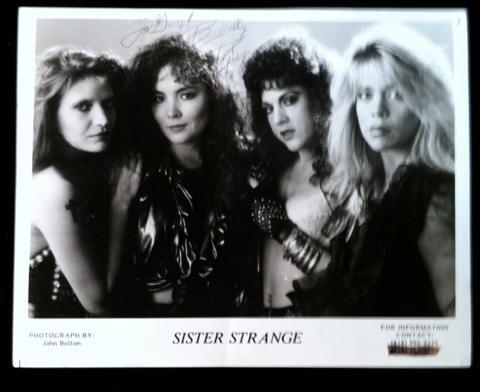 1: Sister Strange Autographed Photo
