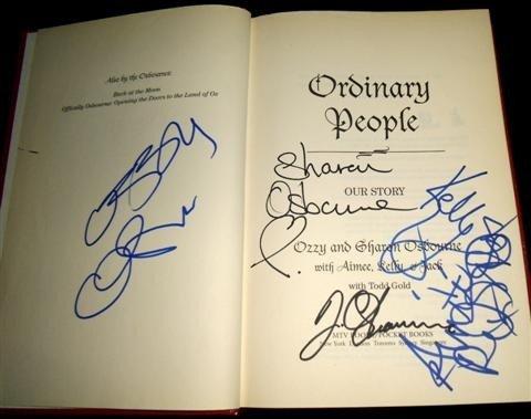 3: Osbourne Family Autographed Book