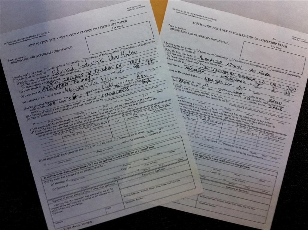 6: Eddie & Alex Van Halen Immigration Papers