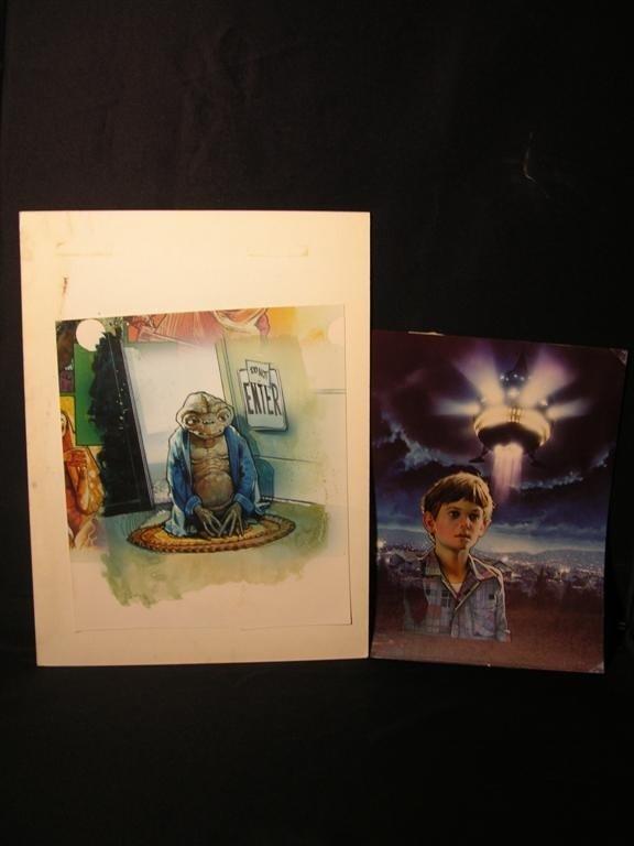 8: E.T. (1982) Hand painted Preproduction Artwork