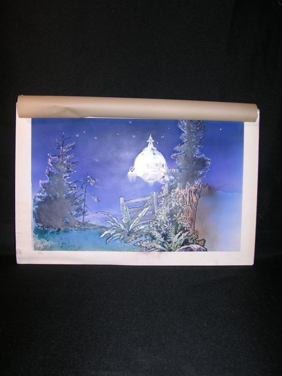 9: E.T. (1982) Hand painted Concept Art