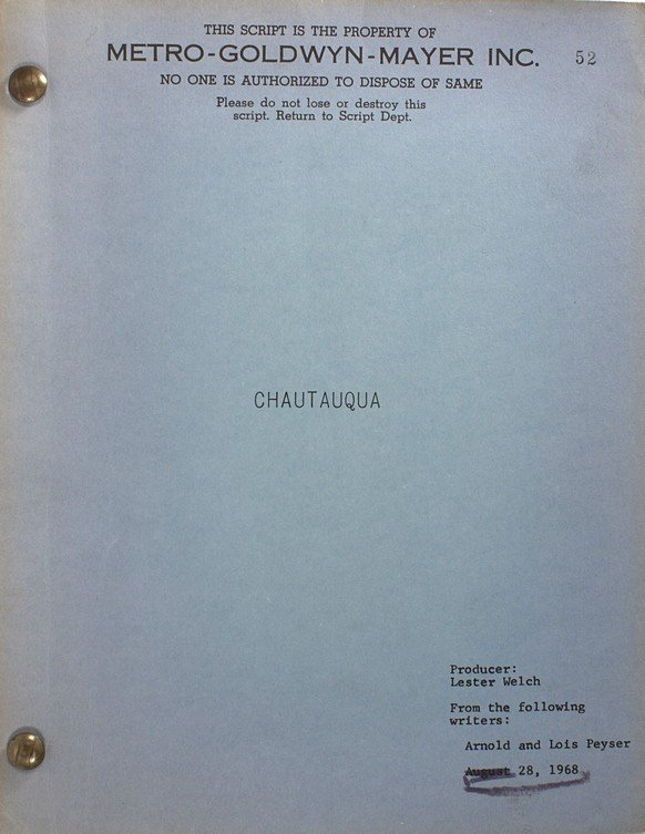 549: The Trouble With Girls Original Screenplay