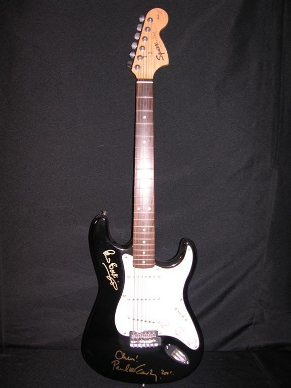 772: Paul McCartney and Peter Best Signed Guitar