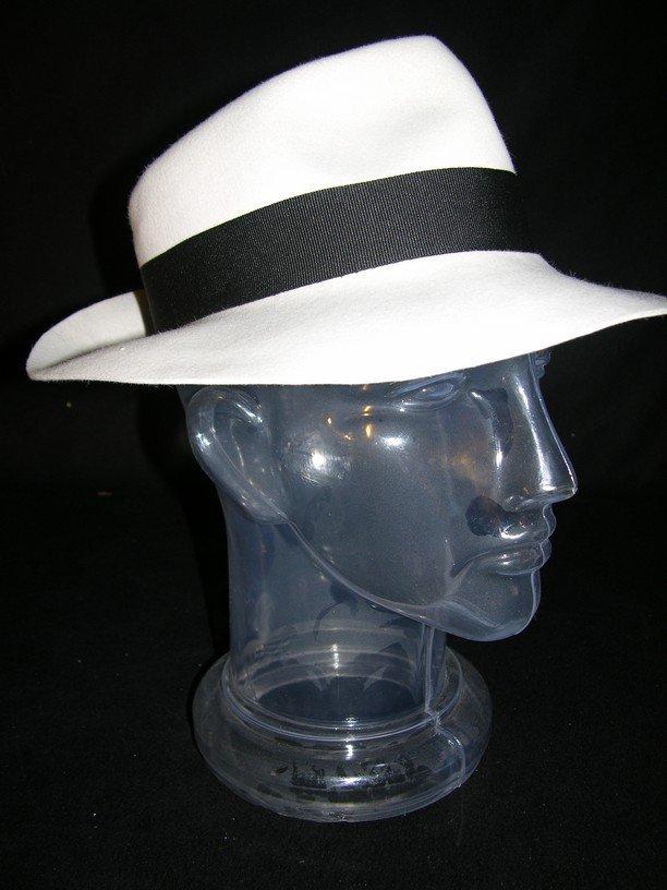 50: Michael Jackson Worn White Fedora