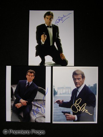 2: Lot of James Bond Actor Signed Photos