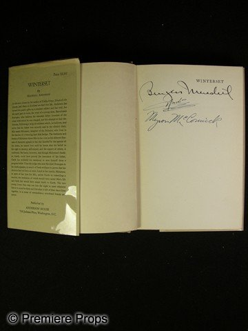 24: Winterset Book Signed by Cast