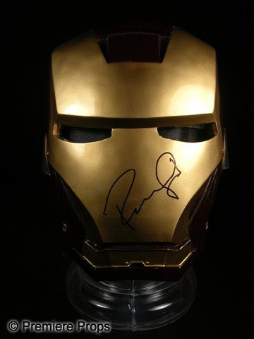 280: Robert Downey Jr. Signed Iron Man Mask