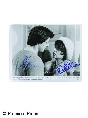 288: Rocky Photo Signed by Sylvester Stallone and Talia
