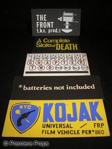 514: Lot of Five Silk Screen Car Permits for Film Produ