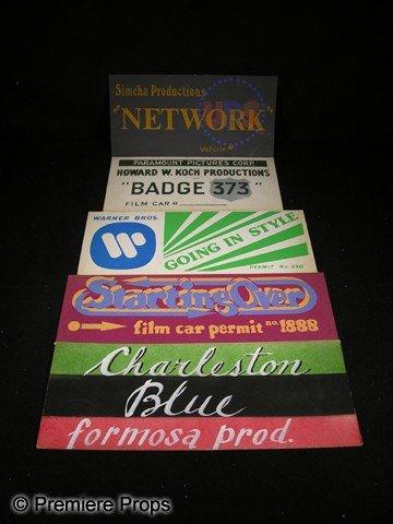 515: Lot of Five Silk Screen Car Permits for Film Produ