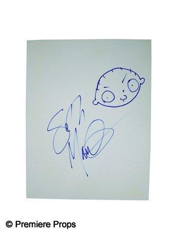 517: Seth MacFarlane Signed Drawing