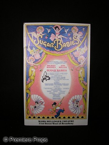 551: Mickey Rooney Signed Sugar Babies Poster