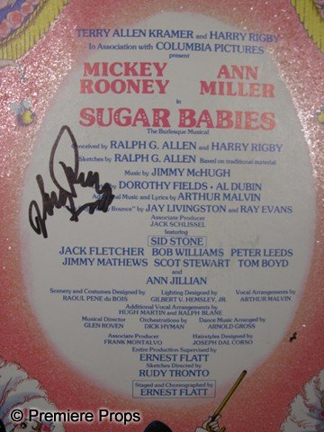 551: Mickey Rooney Signed Sugar Babies Poster - 2