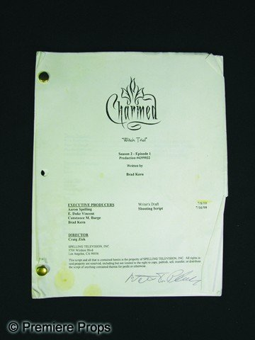 684: Charmed Script Signed by Walter Phelan