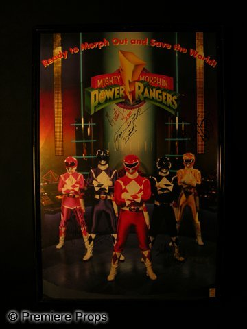 976: Mighty Morphin Power Rangers Signed Poster