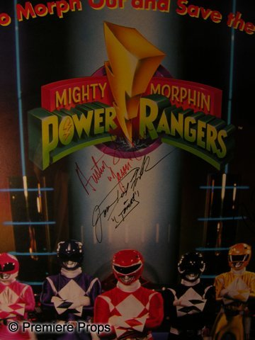 976: Mighty Morphin Power Rangers Signed Poster - 2