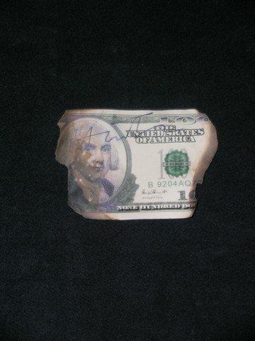 41: Dark Knight Heath Ledger Signed Money