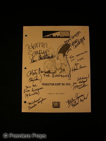 625: The Simpsons Signed Script