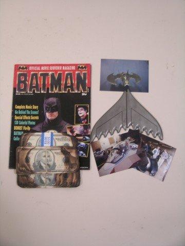 8: Batman Prop Batwing and Dark Knight Burnt Money