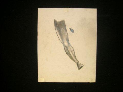 9: Batman Begins Batman Leg Sketch