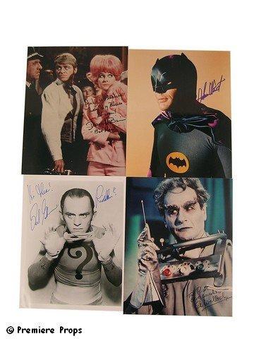 15: Batman TV Photo Signed Adam West/Diane McBain/Frank
