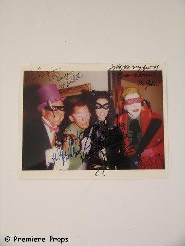 20: Batman TV Villains Group Photo Signed