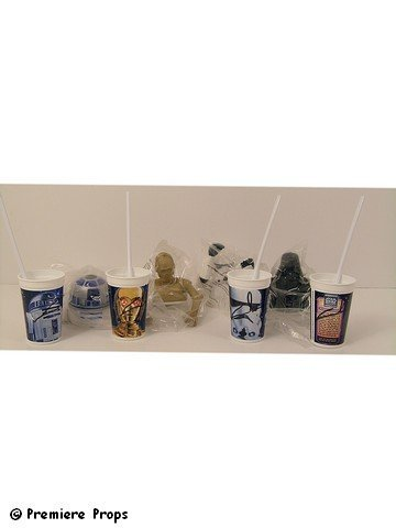 Star Wars Cups w/Figure Tops Signed By George Lucas