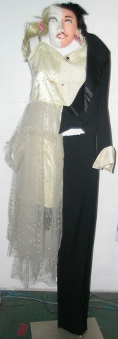858: Half Bride Half Groom Costume