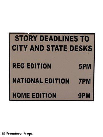 Man of Steel Newsroom Sign