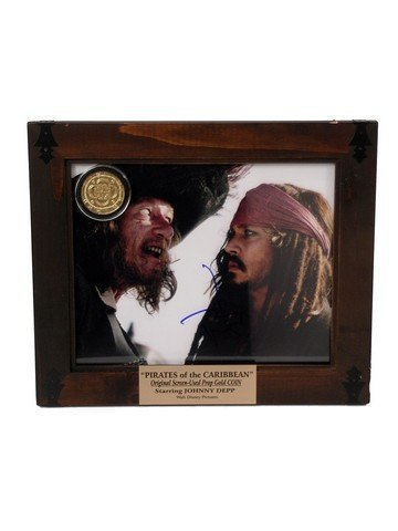 Pirates of the Caribbean Johnny Depp Autograph Photo &