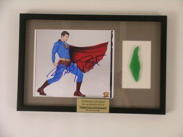 Superman Returns Kryptonite Prop & Superman Autograph
