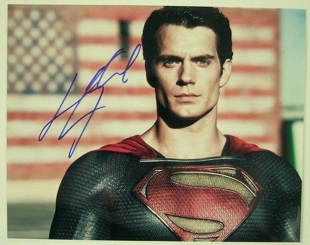 Man Of Steel Superman (Henry Cavill) Autograph Photo