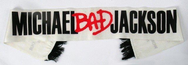"Michael Jackson ""Bad"" World Tour Official Scarf."