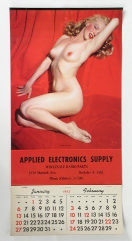 "Original ""Golden Dreams"" 1952 Marilyn Monroe Calendar"