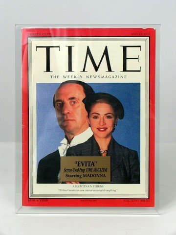 Evita Eva Peron (Madonna) Time Magazine Prop