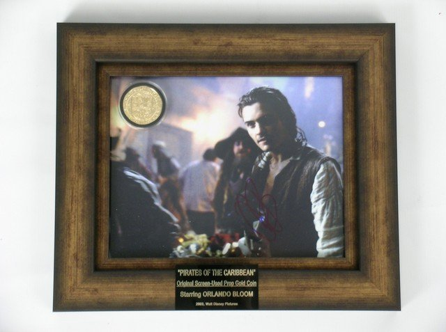 Pirates Of The Caribbean Gold Coin & Orlando Bloom