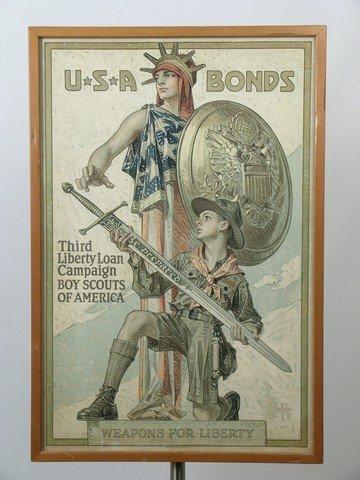 Larry Hagman Leyendecker WWI War Bonds Poster