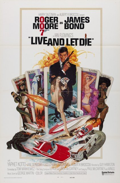 "Live and Let Die U.S One Sheet 27""x41"""
